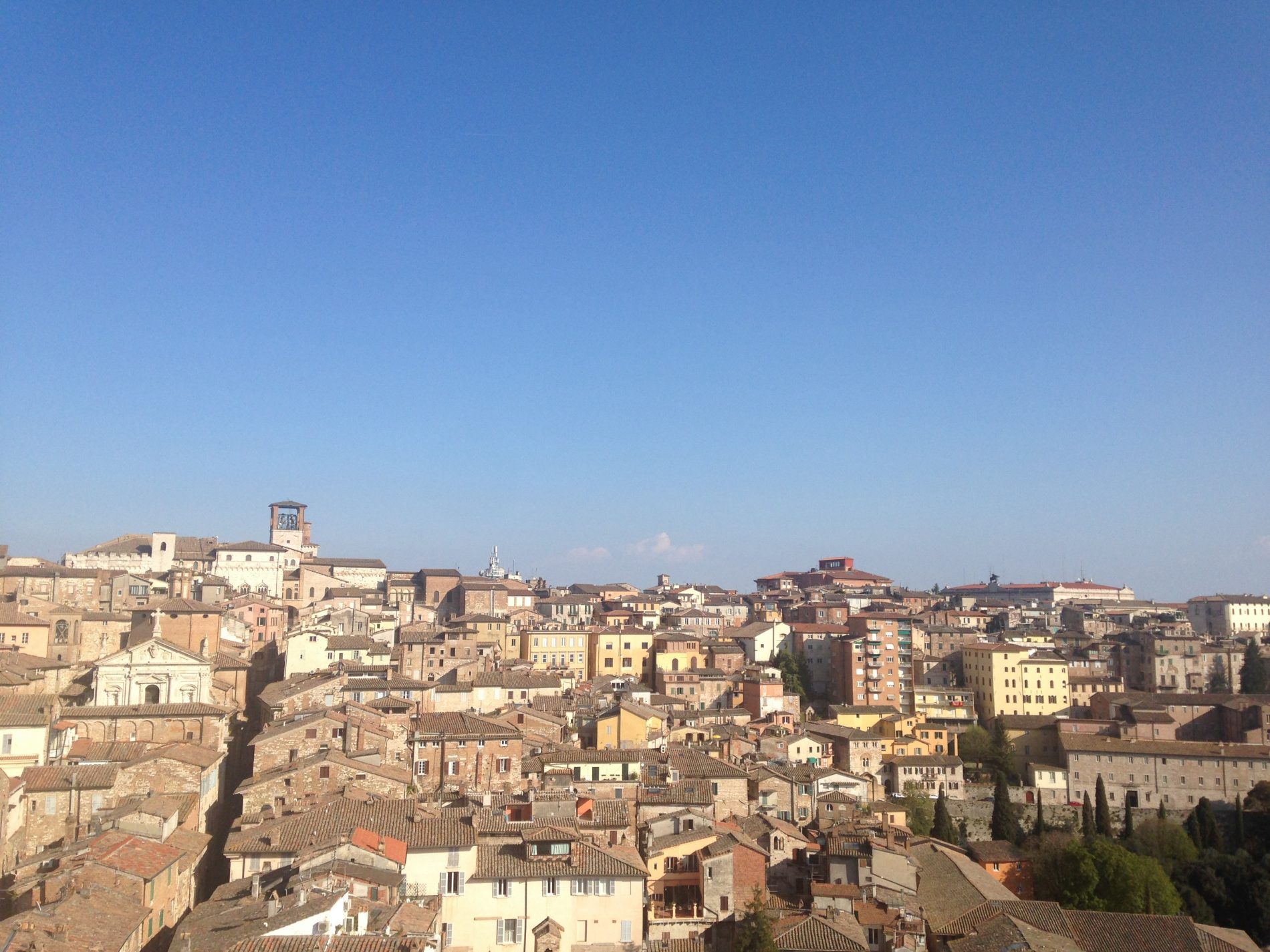 La vista mozzafiato sulla città di Perugia dall'alto della torre  @alessandra tarquini