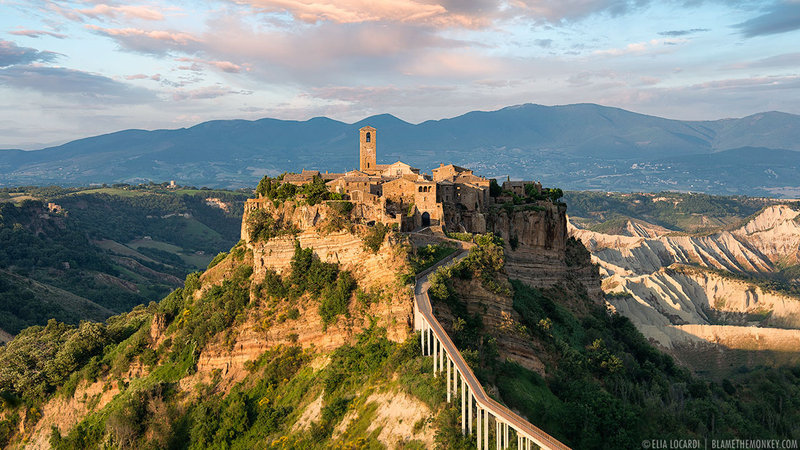 Civita di Bagnoregio is a fascinating medieval city in central Italy.