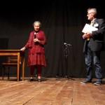 Flora Grandis e il sindaco di Castelfranco Enzo Cacioli
