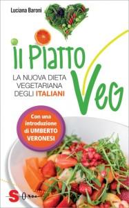 """La copertina del libro """"Il piatto Veg"""" di Luciana Baroni, Edizioni Sonda"""