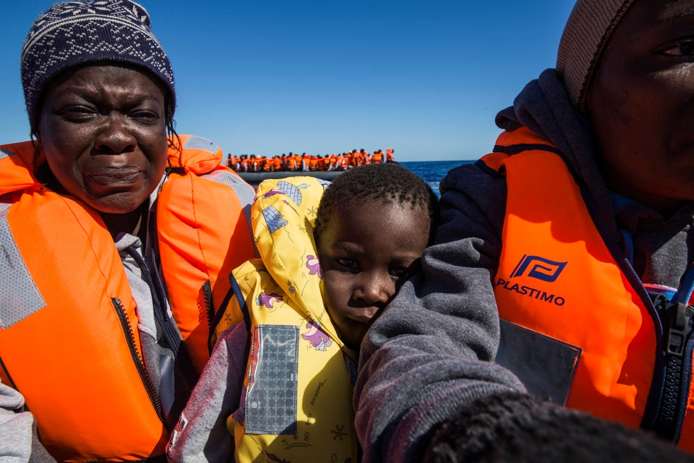 Diané Zié Zakaria, 3 years old, travels with his mum from Ivoary Coast. After being more than 2 month travelling finally they are safe The MSF ship Dignity 1, that set sail from Malta after a technical stop, rescued 435 people from three boats in distress: 120 in the first one, 134 in the second and 181 in the third. On the first two boats, both rubber rafts, the majority were from Guinea, Mali, Ivory Coast and Senegal. The third boat however was wooden, and almost half of those onboard were from Eritrea. Between the three boats, 73 women were rescued as well as 140 children/minors. Whilst all are physically quite well, they show the scars of the perilious sea journey and awful time in Libya.