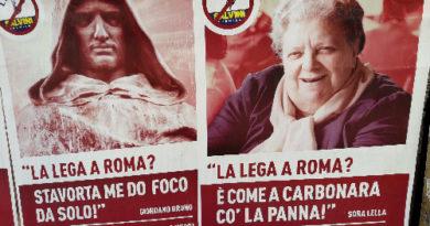 Roma nun se tocca! Sui muri l'ironia dei romani contro la manifestazione della Lega