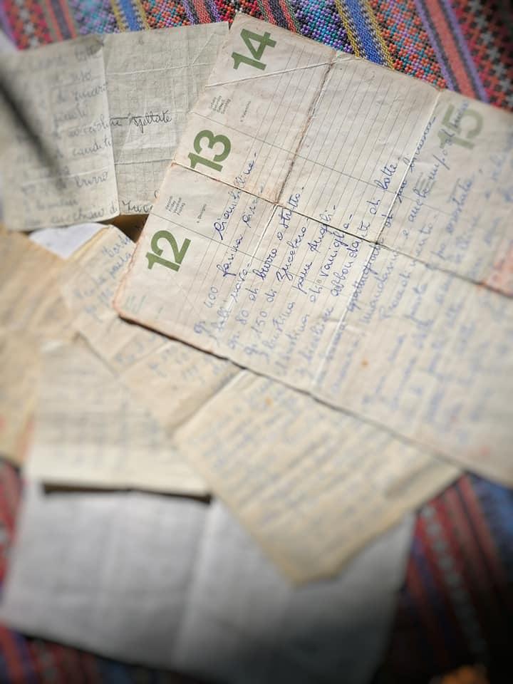le ricette scritte a mano