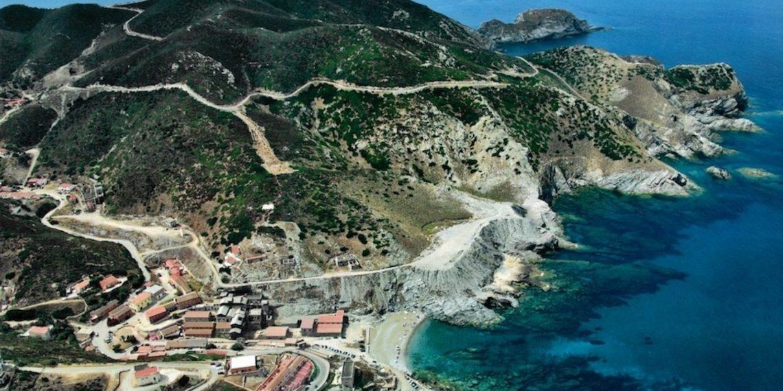 Borgo dell'Argentiera di Gianni Alvito. Landscape and mines of Sardinia from above